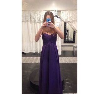 Purple Bridesmaid/Prom dress